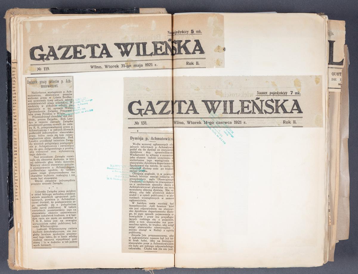 Związek prasy przeciw p. Achmatowiczowi.