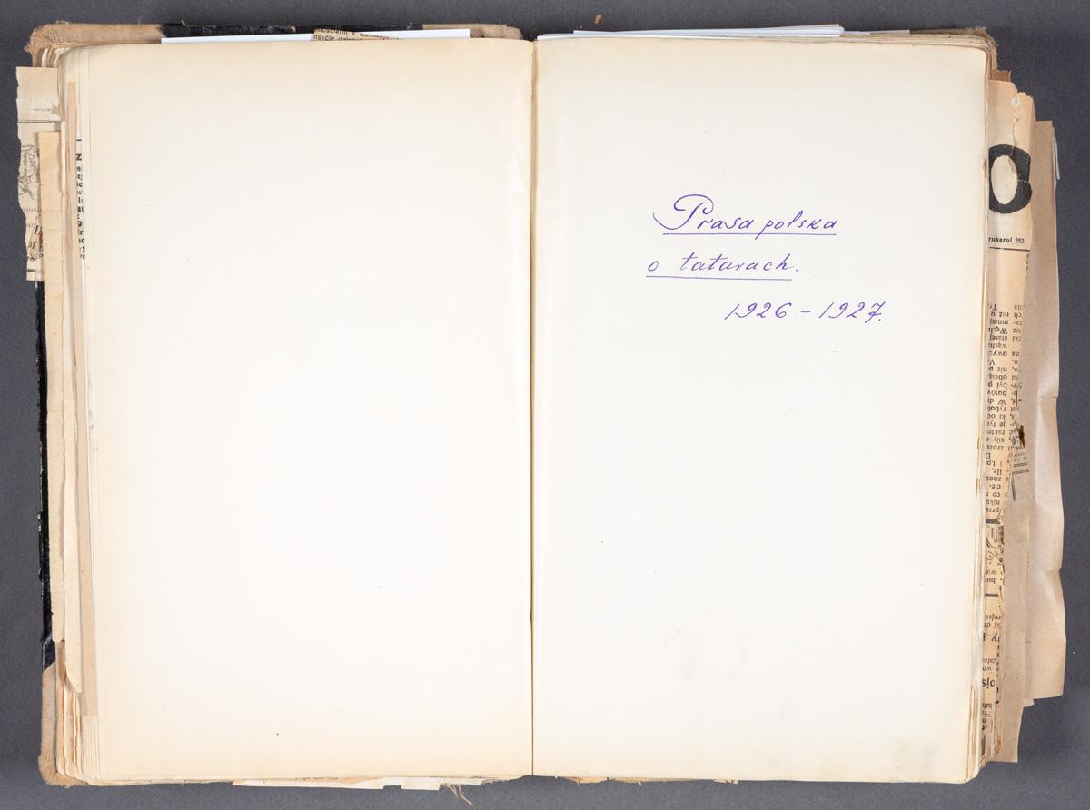 Prasa polska o tatarach 1926-1927  [zapis - karta z tytułem]