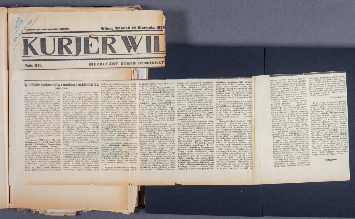 Wileńskie wydawnictwa naukowe ostatnich lat.  (1928-1930).